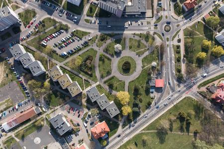 Aerial view of the Olesnica city in Poland Archivio Fotografico - 123727463