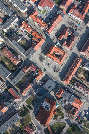 Aerial view of the Olesnica city in Poland