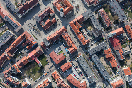 Aerial view of the Olesnica city in Poland Archivio Fotografico - 123727465