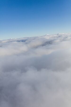 aerial view over the clouds Archivio Fotografico