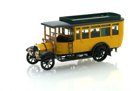 bus model on the white background Stock Photo - 2299808