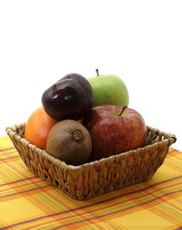 stria: collection of fruits in the crib on the serviette