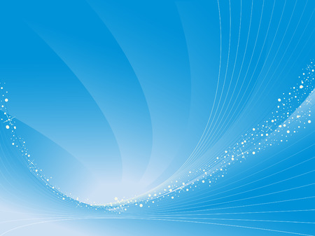 curve line: abstract vector background in blue with curves stripes and stains