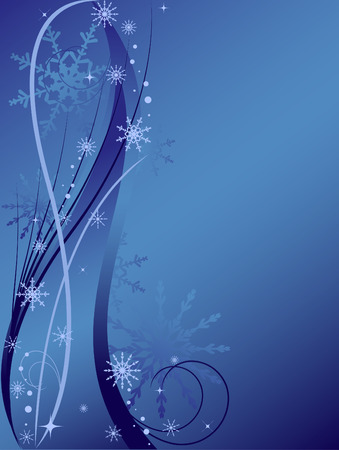 vertical christmas background with snowflakes