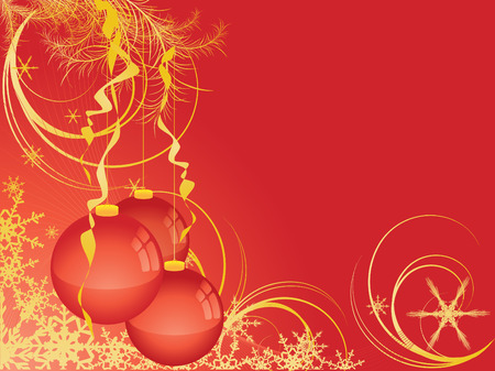 vector Christmas background. Elements for holiday design Stock Vector - 3477935