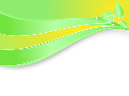 vector template for environmental company with copy space Vector
