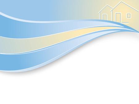 wavy real estate company background in vector Vector