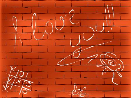 brickwall: Vector resumen de paredes de ladrillo. Dibujado a mano el tipo Vectores