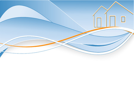 abstract vector header for real estate company