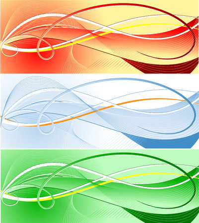 vector abstract template in three color variations Vector