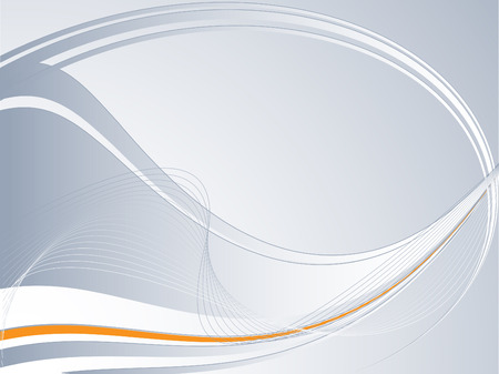 metalic design: abstract vector background with lines and orange accent