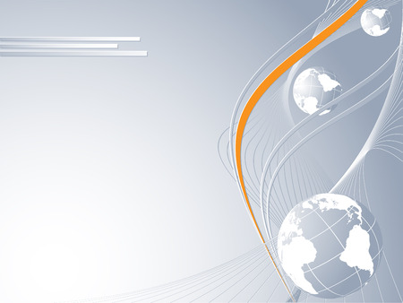 abstract concept idea of global connection with colored accent Vector