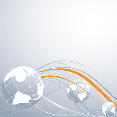 abstract modern vector background. Concept of global connection Vector