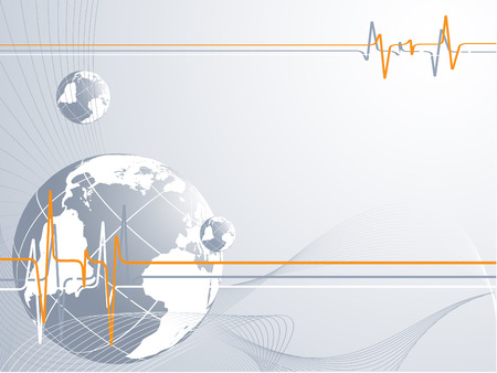vector concept Pulse of global connection Vector