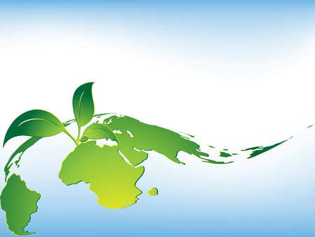 abstract vector environmental background with leaf Vector