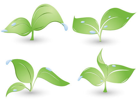 set of environmental icons with drops. Elements for your design Vector