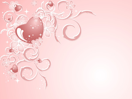 elegant vector Valentine pattern in soft colors  イラスト・ベクター素材