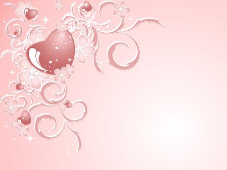 elegant vector: Valentino vettore elegante modello in colori morbidi Vettoriali