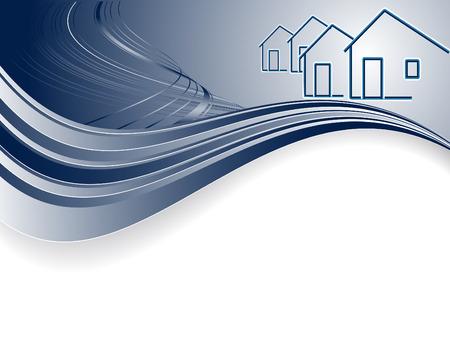 Vektor-Header für die Immobilien-oder Bauunternehmen