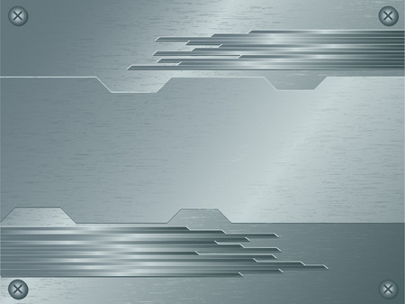 abstract vector background of brushed metallic surface Vector