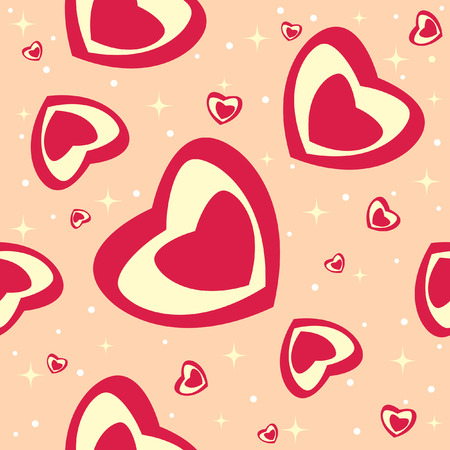 vector abstract seamless for Valentine day Vector