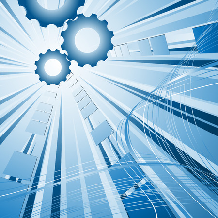 modern futuristic vector background with gears