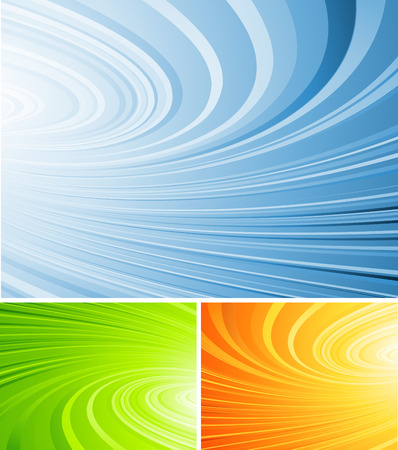 int: curled abstract vector background int three colors variation