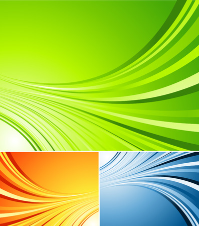 three colors variations of vector striped background