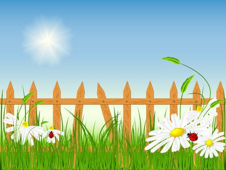 bright summer vector scene.  No mesh used Stock Vector - 4424931