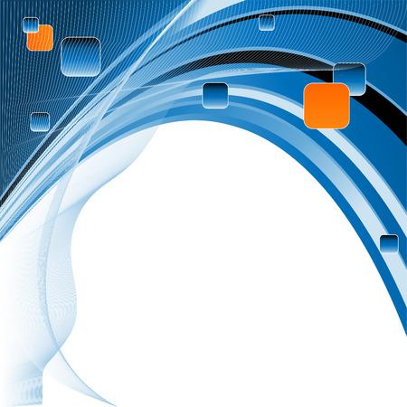 lineas onduladas: resumen de vectores moderno escenario con l�neas onduladas de color azul Vectores