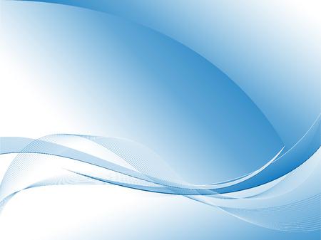 コピー スペースで抽象的な青いベクトル波線 写真素材 - 4610560