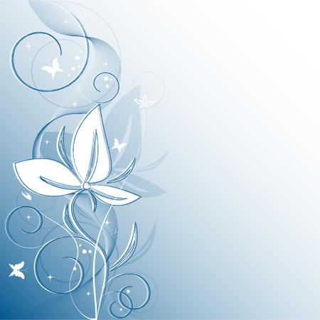 花のベクトル背景蝶の妖精とコピー スペース 写真素材 - 4794828