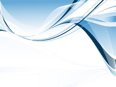 青色の波線で抽象的なベクトル モダンな背景 写真素材 - 4979557