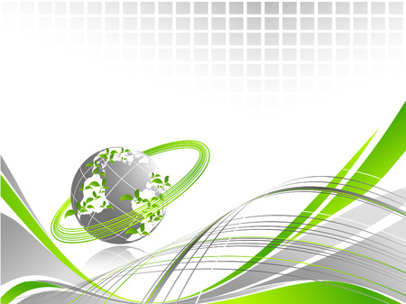 vector environmental background with copy space
