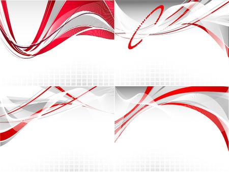 lineas onduladas: conjunto de fondos con l�neas onduladas de presentaci�n Vectores