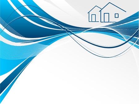 header for real estate or construction company presentation Vector