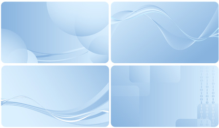 名刺のテンプレートのセットです。デザインの要素 写真素材 - 5268364