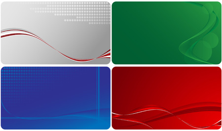 set of templates for business cards. Elements for design