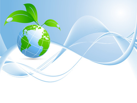 vector environmental background with globe and copy space Stock Vector - 5375653