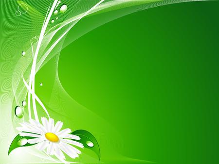 abstract green vector summer backdrop with chamomile Stock Vector - 5931945