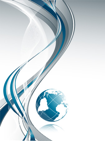 abstract vector background with globe and copy space