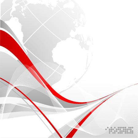 ligne: vecteur abstraite de fond moderne avec espace de copie  Illustration