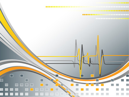 pulse trace: abstract background with pulse and copy space