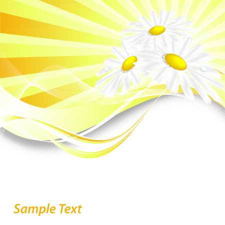 abstract summer vector background with chamomiles and copy space Stock Vector - 6524621