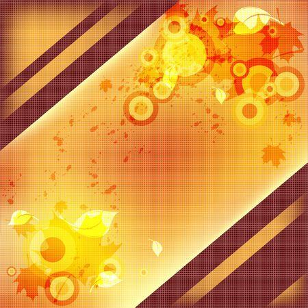 abstract autumn illustration in retro style illustration