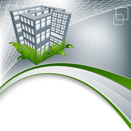 abstract environmental concept Green city with copy space Vector