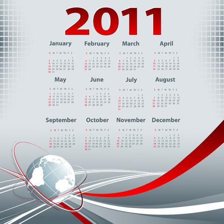 2011 年のカレンダーとビジネス テンプレート 写真素材 - 7741888