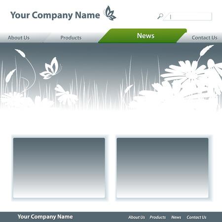 batterfly: template for web site. Elements for design.  Illustration