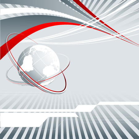 abstract   background with globe and copy space