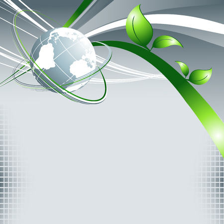 environmental background with globe and copy space Stock Vector - 8152306